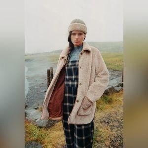 Anthropologie Amina teddy coat M BNWT
